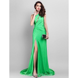 Australia Formal Dress Evening Gowns Clover Plus Sizes Dresses Petite A Line Sexy One Shoulder Court Train Jersey